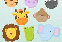 ⭐️ Jungle Animals Faces / JW Illustrations