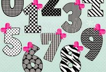 ❤️ Black & White Diva Numbers / JW Illustrations