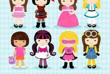 ❤️ Girls Costumes / Graphos clipart