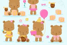 ❣ Little Bear Girl / Graphos clipart