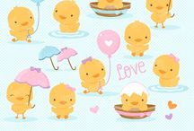 ⭐️ Lovely Ducklings / Graphos clipart