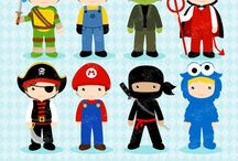 ⭐️ Boys Costumes / Graphos clipart