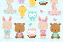 ❤️ Babies Animals / Graphos clipart