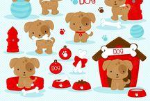 ❤️ Cute Puppy 1 / Graphos clipart