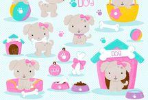 ❤️ Cute Puppy 2 / Graphos clipart