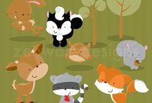 ⭐️ Woodland Animals / Zenware Designs