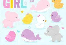 ❤️ Baby Girl Animals / Graphos clipart