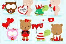 ❤️ Valentine Animals / Graphos clipart