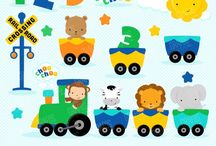 ⭐️ Zoo Train Boy / Graphos clipart