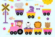 ⭐️ Zoo Train Girl / Graphos clipart