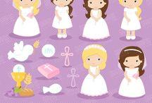 ⭐️ Girls First Communion 1 / Graphos clipart