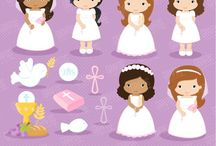 ⭐️ Girls First Communion 2 / Graphos clipart