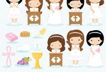 ⭐️ Girls First Communion 3 / Graphos clipart