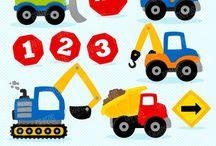 ⭐️ Construction Trucks / Graphos clipart