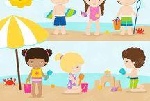 ⭐️ Beach Fun Time / Graphos clipart