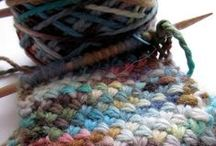 """Fiber Crafts to Calm the Mind / My """"just for fun"""" craft :D  Like my grandma and her sister always said """"If I'm sittin', I'm knittin'!"""" / by Jenny Hoople"""