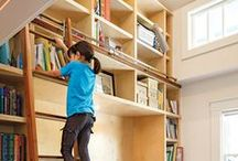 DIY Ladder Kits & Ladder Projects / I love rolling ladders and have always wanted to have my own library with a rolling ladder both for appeal and function. These pins are to how to make your own rolling ladder as well as some really cool ladder ideas.  / by Rockler Woodworking and Hardware