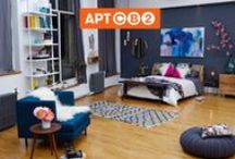 APT CB2 BEDROOM / I partnered with CB2 on May 9th, 2014 to create the first real apartment live on Pinterest with your favorite pins! I always build rooms with a statement color story and love to play with unusual pairings - a mix of modernist furnishings coupled with eclectic oddities. Welcome to the APTCB2 Bedroom!   / by Athena Calderone