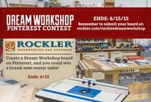 #rocklerdreamworkshop / Our Pinterest page is full of things to inspire you in the shop. What we want to know is: What's your ideal workshop? Create a Pinterest board showing all the things you'd want in your dream shop, from benches and tools to safety gear, storage ideas and slick gadgets. Our favorite pinner will win a Rockler HPL Router Table with plate and fence!     / by Rockler Woodworking and Hardware