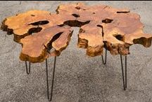 Wood Slabs & Slab Furniture / Wood slabs are unique and can be visually stunning. This isn't the lumber you find at your average hardware store, each piece is a natural work of art. Check out this collection of amazing pieces of art made from slabs.  / by Rockler Woodworking and Hardware