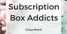 Subscription Box Addicts / This is a group board for subscription box addicts!  Pin anything related to subscription boxes. Irrelevant pins will be deleted and repeat offenders removed. Pin as much as you'd like, but don't spam. For each pin, pin another in the group. Be sure to follow me and then fill out the form to join: http://eepurl.com/dhjKSX