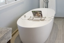 Contemporary Eclectic Bathroom / This contemporary eclectic bathroom was designed and built by HomeTech Renovations, located in Fort Washington, PA.