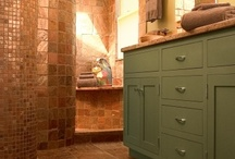 Santa Fe Inspired Bathroom / This Santa Fe style inspired bathroom was constructed and designed by HomeTech Renovations - a design/build firm specializing in bathroom and kitchen remodeling in the Greater Philadelphia region.