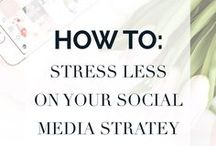 social media strategy / Social Media tips for building your following, driving traffic, attracting your ideal client, and creating a community for your online business.