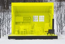 ARCHITECTURE* small spaces / Cabins, Tree Houses, Small Space design