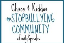 #StopBullying Community Board / The experiences of my teenage stepdaughter as she copes with being bullied and resorting to self-harm. Follow her journey to mental health and join her campaign to #stopbullying. Visit http://www.chaosandkiddos.com/2014/06/cyber-bullying-and-self-harm.html and link up your posts about bullying, self-harm or other related topics. Let's join together to #stopbullying by building a community of support committed to change and healing.