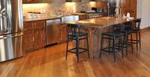 Unfinished Sand and Finish Hardwoods / Unfinished sand and finish solid hardwood floors give you a great option for when you are building a new home. Choose your own wood species, stain, and board widths. More custom flooring ideas available at Munday Hardwoods, Inc. in Lenoir, NC.