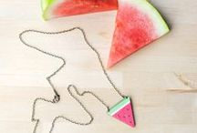 Onetenzeroseven Handmade Jewellery & Accessories / Handmade jewellery made in the UK featuring cute and silly designs. Kitsch, vintage and kooky pieces. Gifts for tea lovers, moustache fun and fruity Watermelon fashion. Independent designer, made in Yorkshire.
