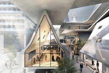 Future Architecture / Futuristic architecture / Renders / Architectural projects under construction / Proposals / by Mau Nuncio