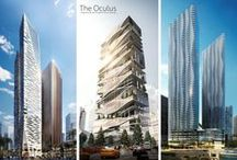 Future Skyscrapers / High rise towers and skyscrapers under construction. Render, proposal, architecture. / by Mau Nuncio
