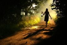 ...follow me... / over the river and through the woods / by Teresa....a seeker