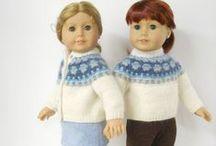 american girl doll knitting fairisle / by Helen Michael