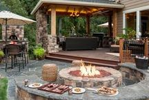 Backyard Ideas / Home improvements for the deck and backyard / by Deitra Hart