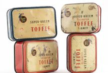 Darling Sweet Vintage Toffee Tin Collection / This is the vintage toffee tin collection of Darling Sweet handcrafted toffees. We have toffee tins dating back as far as early 1900's to tins from the 1970's issued in South Africa, the UK and elsewhere.