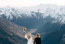 Elegant Mountain Wedding / Some inspiration for any elegant wedding that's taking place in the Mountains.