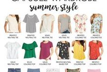 Summer Capsule Wardrobe / Create a summer wardrobe plan through these tips: http://www.puttingmetogether.com/2017/07/summer-capsule-wardrobe.html.  And shop each of the items in this board easily by clicking on them!