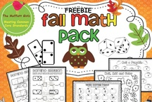 Seasonal Math - Fall / This board contains themed math resources and activities. Includes apples, falling leaves, scarecrows, and other aspects of the fall season. (For pumpkins see the Holiday Math - Halloween/Pumpkins board.)