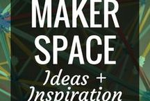 Makerspace - Ideas & Inspiration / Makerspaces are taking over the educational world & with good reason.  They are the perfect spaces to support STEAM & Project Based Learning through hands-on, interactive activities.  They support innovation, creativity, critical thinking & communication skills in our students.  Check out these pins for some inspirational resources to start you on your Maker journey, whether you teach elementary, middle school, high school, in a public library, or are just plain curious about makerspaces.