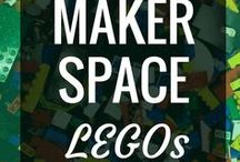 Makerspace - LEGOs / LEGOs are by far one of my favorite makerspace and MakerEd tools.  Students already know how to use them, they're extremely versatile, and the curriculum connection possibilities are endless.