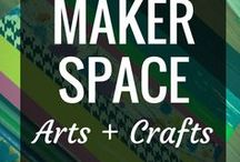 Makerspace - Arts & Crafts / Arts and crafts projects are fun, approachable, and hands-on ways to bring STEAM learning opportunities into your makerspace.  They're fabulous for curriculum connections and open-ended exploration alike.  Bring some STEAM MakerEd learning into your library or classroom with some of these projects today.