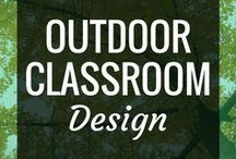 Outdoor Classroom Design / This is a collection of ideas for creating outdoor classrooms, garden spaces & outdoor learning spaces.  We need to design more outdoor spaces in our schools, from preschool to elementary & beyond.  Spaces like this can include DIY, formal architecture & natural playgrounds.  But most of all, they make learning fun :)