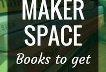 Makerspace - Books to get / When you get your students started with hands-on learning through makerspaces, it's important to have a well-stocked library of books to support their projects + learning.  This is a growing collection of Maker, STEAM, PBL + creativity books to inspire your students.  There's books in here for elementary, middle school, high school + more.