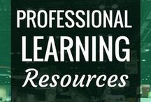 Professional Learning / Connected teachers + educators are always concerned about growing themselves professionally + being lifelong learners.  Here's some of my favorite resources for up-ing your teaching game + doing just that.  Build you professional learning community + network, find articles + ideas about educational technology