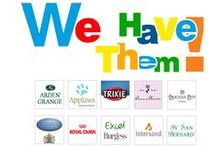 The Pet Brands we Carry / Find out the brands we carry for our special pets in ous store