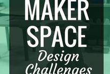 Makerspace - Design Challenges + Challenge Based Learning / Design challenges and challenge based learning activities are a great way to build more engagement in makerspaces in schools, libraries and anywhere else.  These are examples of different challenges, as well as articles that can help support challenges.