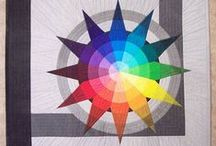 Rainbow quilts / Rainbow and color wheel quilts